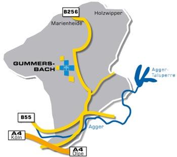 Einzugsgebiet der Diakoniestation Gummersbach.